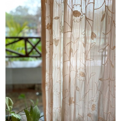 Flower Embroidery Curtain