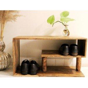 Spiral Wooden Shoe Rack