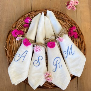 Embroidered Initials Napkins