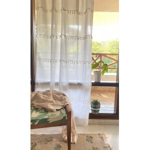 White Orchid Lace Curtain