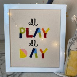 All play all day  Wall frame