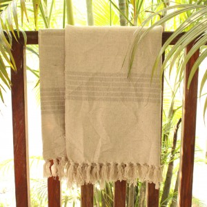 Natural Stripes Throw