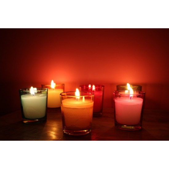 Scented Glass Candles (Set Of 6)