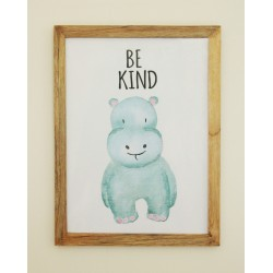 Be Kind Hippo Wall frame