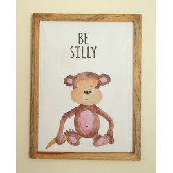 Be Silly Monkey Wall frame