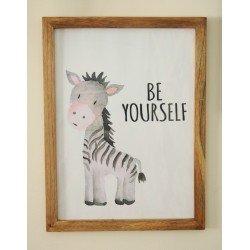 Be Yourself Zebra Wall frame