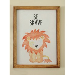 Be Brave Lion Wall frame