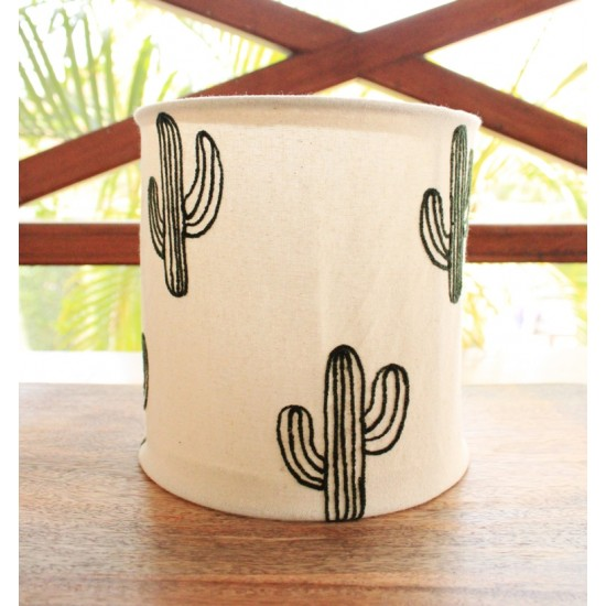 Cactus Embroidery Lamp Shade