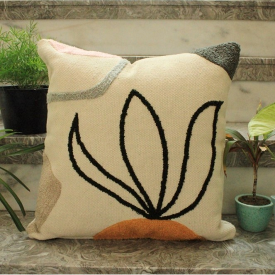 Abstract Flower Cushion