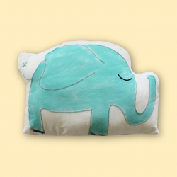 Blue Elephant shape Cushion