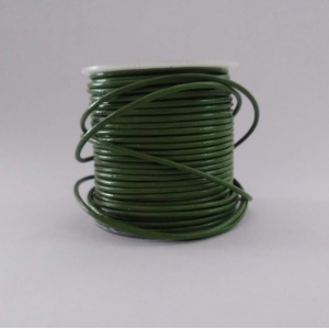 Bottle green leather cord