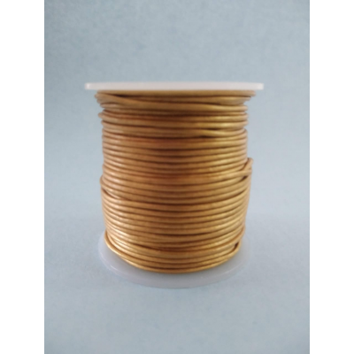 Copper coloured leather cord
