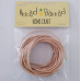 Sea shell coloured leather cord