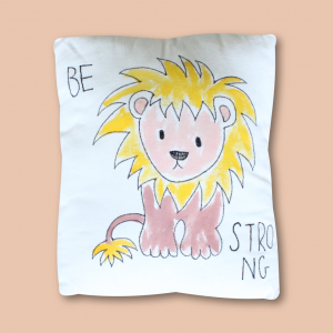 Be Strong lion Cushion