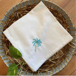 Palm Emdroidered Napkin(Set of 6)