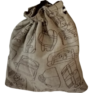 Suitcase Drawstring Bag