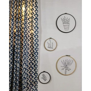Ikat Printed Curtain