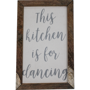 This Kitchen Is For Dancing Wall Frame