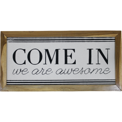 Come In we are awesome Wall Frame