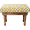 Yellow Ikat Stool