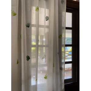 Leaf Block Printed Curtain