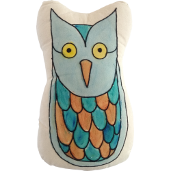 Owl Hand Paint Shape Cushion